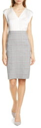 Rebecca Taylor Tailored by Check Plaid Sheath Dress