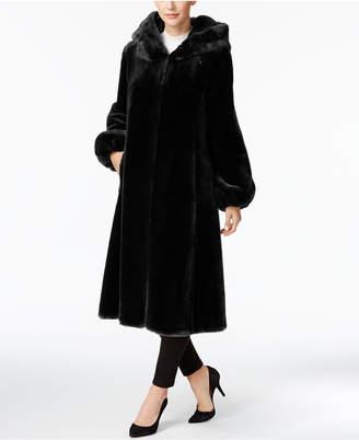 Jones New York Faux-Fur Hooded Maxi Coat $460 thestylecure.com