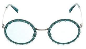 Valentino Tinted Round Sunglasses