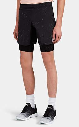 Satisfy Men's Paint-Splattered Compression Shorts - Black