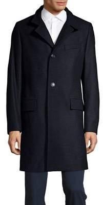HUGO BOSS Wool-Blend Button Front Coat
