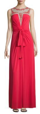 BCBGMAXAZRIA Sleeveless Illusion Top Gown $328 thestylecure.com