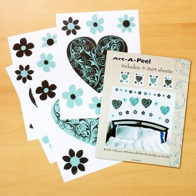 Art-A-Peel Scrolled Heart Wall Decals