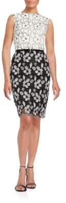Ellen Tracy Floral Sheath Dress