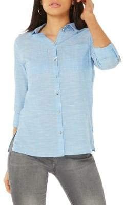 Dorothy Perkins Classic Cotton Button-Down Shirt