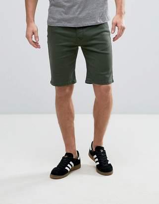 Hoxton Denim Forest Green Chino Shorts
