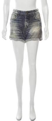 Rag & Bone Faux Denim Knit Shorts