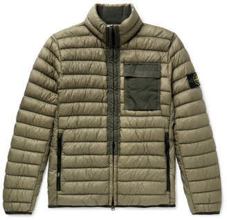 Stone Island Garment-Dyed Quilted Nylon Down Jacket