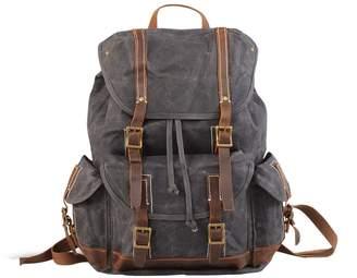 EAZO - Waterproof Waxed Canvas Backpack in Grey