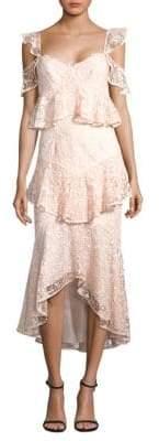 AMUR AMUR Women's Hayden Lace Midi Dress - Blush - Size 6