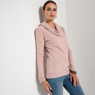 Anne Weyburn Long-Sleeved Cowl Neck Fine Gauge Knit Jumper