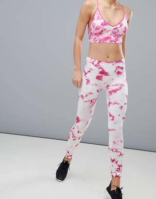 South Beach Tie Dye Leggings In Pink
