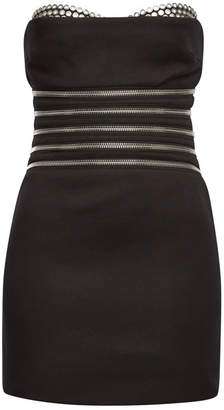Alexander Wang Bustier Dress with Cotton and Zippers