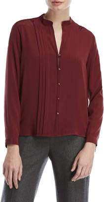 Sandro Burgundy V-Neck Shirt