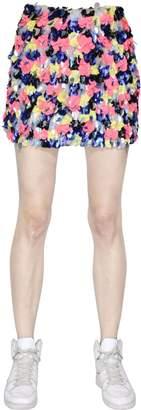 Embellished Techno Organza & Mesh Skirt