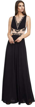 BCBGMAXAZRIA Gisela Embroidered Gown