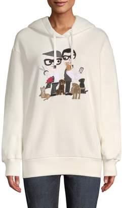Dolce & Gabbana Women's Family & Dogs Hooded Sweater