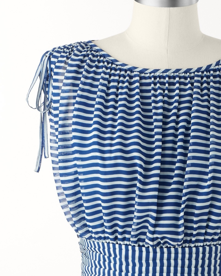 Coldwater Creek Floaty stripes dress