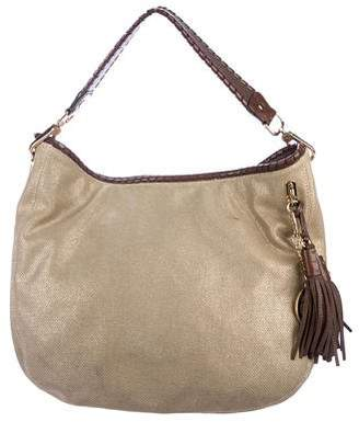 MICHAEL Michael Kors Metallic Canvas Hobo