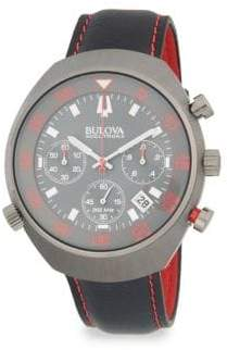 Bulova Accutron II Stainless Steel and Leather-Strap Watch