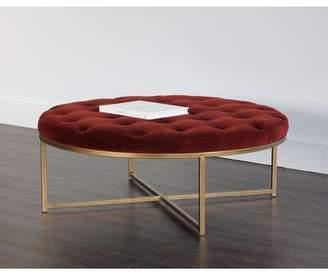 Strange Round Tufted Ottoman Shopstyle Creativecarmelina Interior Chair Design Creativecarmelinacom
