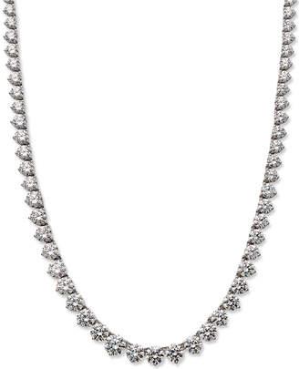 Arabella Sterling Silver Necklace, Swarovski Zirconia Necklace (53 ct. t.w.)
