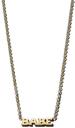 """Chicco Zoë 14K Yellow Gold Itty Bitty BABE Necklace, 16"""""""