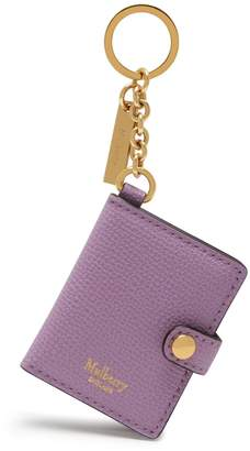 Mulberry Portrait Keyring Lilac Cross Grain Leather