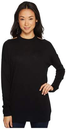 Splendid Long Sleeve Cut Out Pollover Women's Long Sleeve Pullover