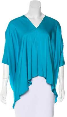 Zero Maria Cornejo Silk-Blend V-Neck Top