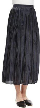 Tibi Pleated Midi Skirt, Black $595 thestylecure.com