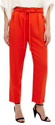 Phase Eight Pipa Paper Bag Waist Cropped Trousers, Orange