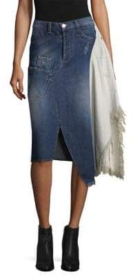 Each X Other Deconstruted Denim Skirt