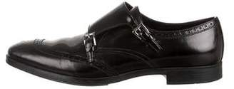 Prada Double Monk Strap Brogue Shoes