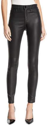 Emporio Armani High-Waist Skinny Coated Denim Jeans