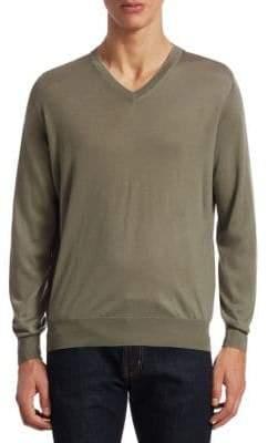 Brunello Cucinelli Wool/Cashmere V-Neck Sweater