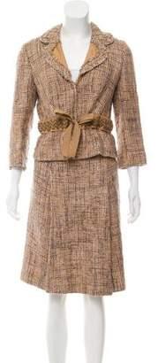 Prada Embellished Textured Suit Set
