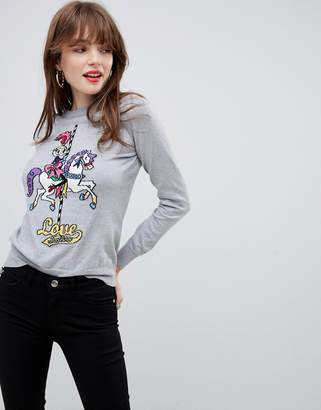 Love Moschino Fairground Girl Sweater