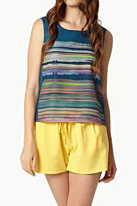 Lavand Abstract Mural Blouse