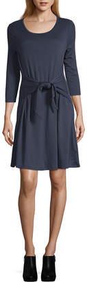 A.N.A Tie Front Shirt Dress