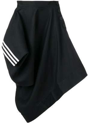 Y-3 asymmetric draped skirt