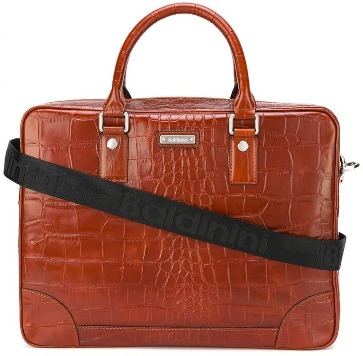 BaldininiBaldinini crocodile skin effect briefcase
