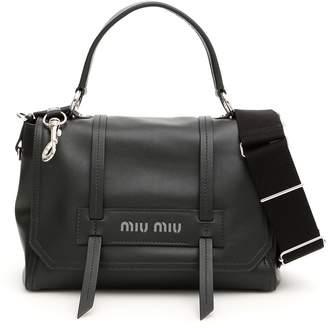 Miu Miu Logo Bag With Top Handle