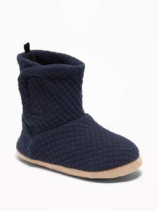 Old Navy Quilted Jersey Bootie Slippers for Toddler