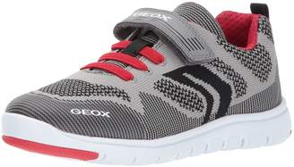 Geox Boy's J Xunday B. J Sneakers, Grey/Red