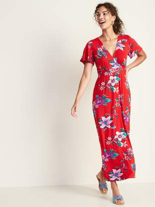 Old Navy Waist-Defined Cross-Front Jersey Maxi for Women