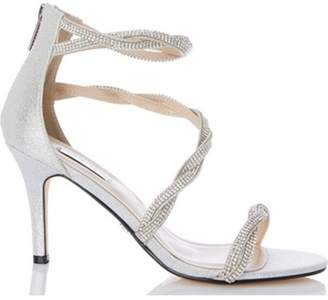 Dorothy Perkins Womens *Quiz Silver Diamante Bridal Shoes
