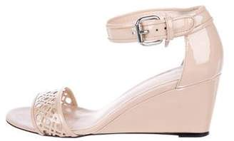Aquatalia Patent Ankle-Strap Wedges