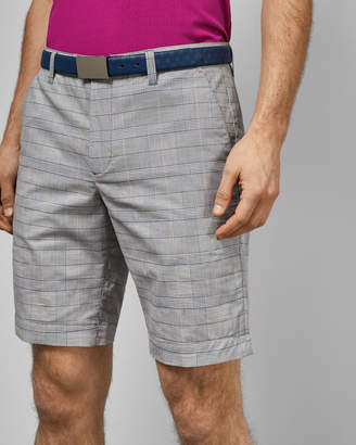 Ted Baker EASIEE Checked cotton golf shorts