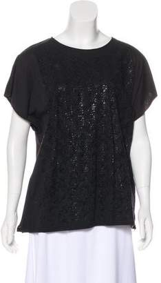 Bottega Veneta Printed Short Sleeve Top